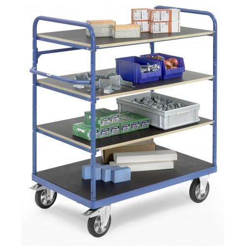 chariots 4 plateaux pour charges lourdes equipement. Black Bedroom Furniture Sets. Home Design Ideas