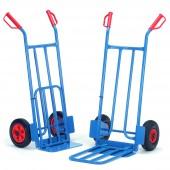 Diables acier à bavettes rabattables : Charge : 250 kg