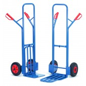Diables acier à bavettes rabattables : Charge : 300 kg