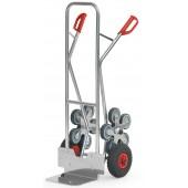 Diables escalier aluminium 2x5 roues - Charge : 200 kg