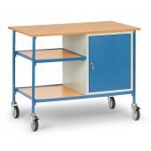 Table roulante avec 1 étagère et 1 caisson