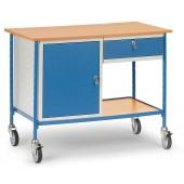 Table roulante avec 1 caisson et 1 tiroir