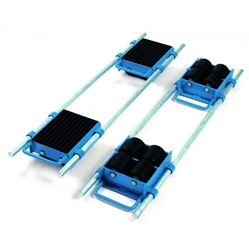 Rouleurs avec barres de réglage - Charge : 6000 kg