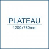 Plateau 1200 x 780 mm +