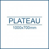 Plateau rabattable 1000 x 700 mm