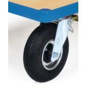 Roues gonflables, diamètre 220mm (supplément pour roues initiales de 125mm)