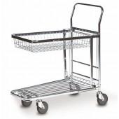 Chariot de magasin avec panier