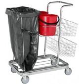 Chariot de service de nettoyage polyvalent
