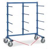 Support de roues pour chariots à barres de portée horizontales