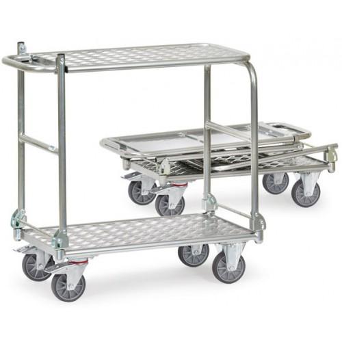 Chariots à plateaux en aluminium