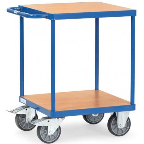Servante 500 kg à 2 plateaux en bois