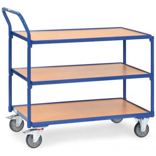 Servantes 300 kg à 3 plateaux avec poussée verticale
