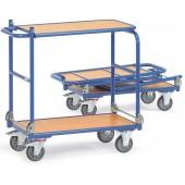 Chariots pliables en acier à plateaux