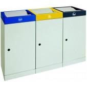 Station de 3 collecteurs de déchets fixes