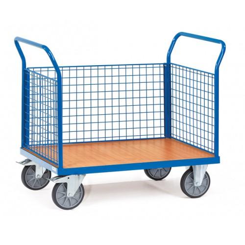 Chariots à 3 ridelles à treillis en métal