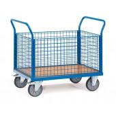 Chariots à 4 ridelles à treillis en métal