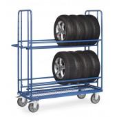 Chariots à pneumatiques avec treillis