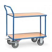 Chariots à plateaux à 2 étagères