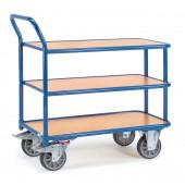 Chariots à plateaux à 3 étagères