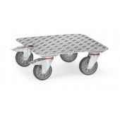 Plateau roulant antidérapant en aluminium