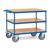 Servante 500 kg à 3 plateaux en bois