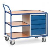 Servante d'atelier 250 kg à 1 étagères et 4 tiroirs