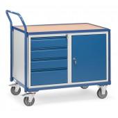Servante d'atelier 250 kg à 4 tiroirs et 1 placard