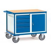Servante d'atelier 500 kg à 1 placard et 4 tiroirs