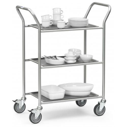chariot de service 3 plateaux amovibles equipement. Black Bedroom Furniture Sets. Home Design Ideas