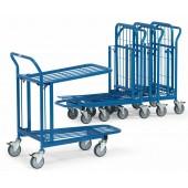 Chariots emboîtables de magasin à 2 plateaux