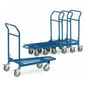 Chariots emboîtables de magasin à 1 plateau