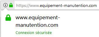 Equipement-Manutention.com - boutique sécurisée par SSL