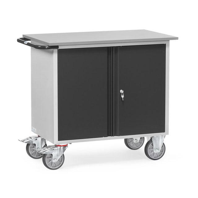 Servante d'atelier 400 kg à 1 placard à 2 portes