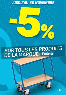 -5% sur tous les produits de la marque Fetra